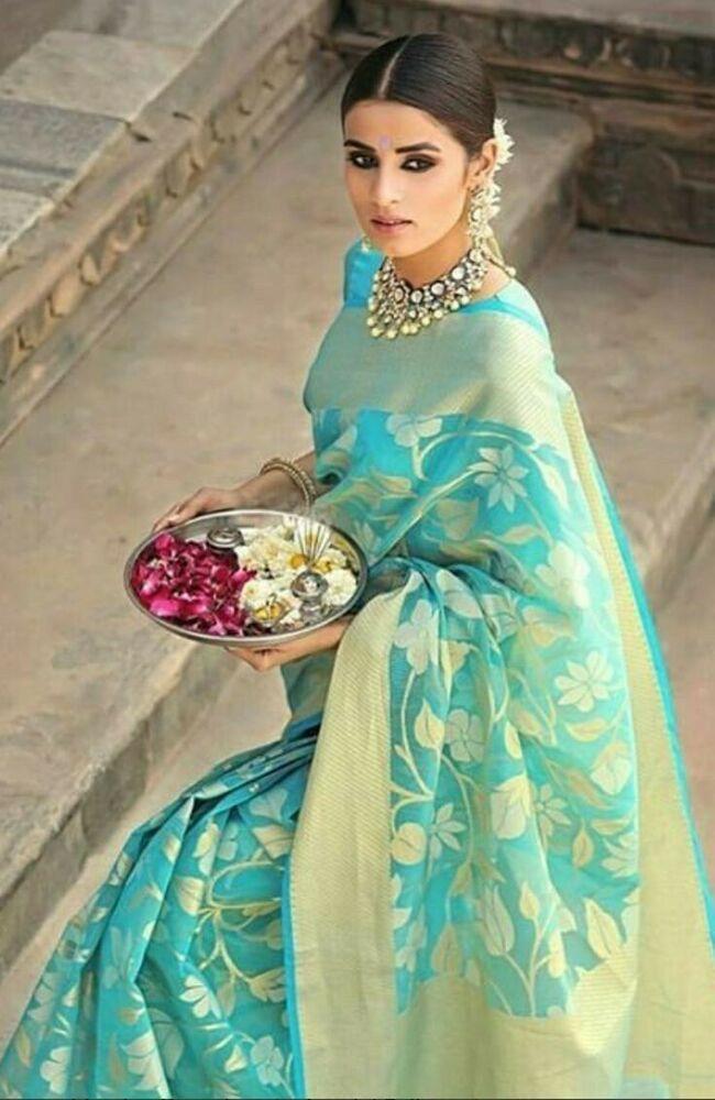 saree dress dress for women saree for women Green soft lichi silk saree and blouse for women indian saree sari saris wedding saree
