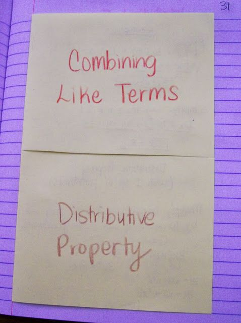 46 Best Combining Like Terms Images On Pinterest