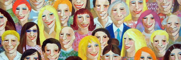 With A Smile - http://www.contemporary-artists.co.uk/paintings/with-a-smile/