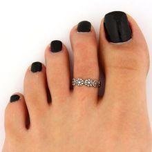 nieuwe 2pc vrouwen antieke teenring voet strand zilver metaal verstelbare sieraden zina(China (Mainland))