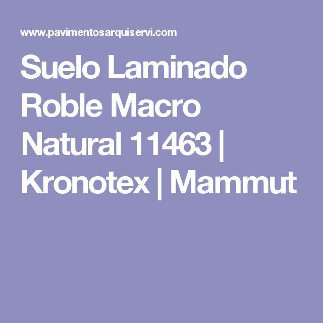 Suelo Laminado Roble Macro Natural 11463 | Kronotex | Mammut