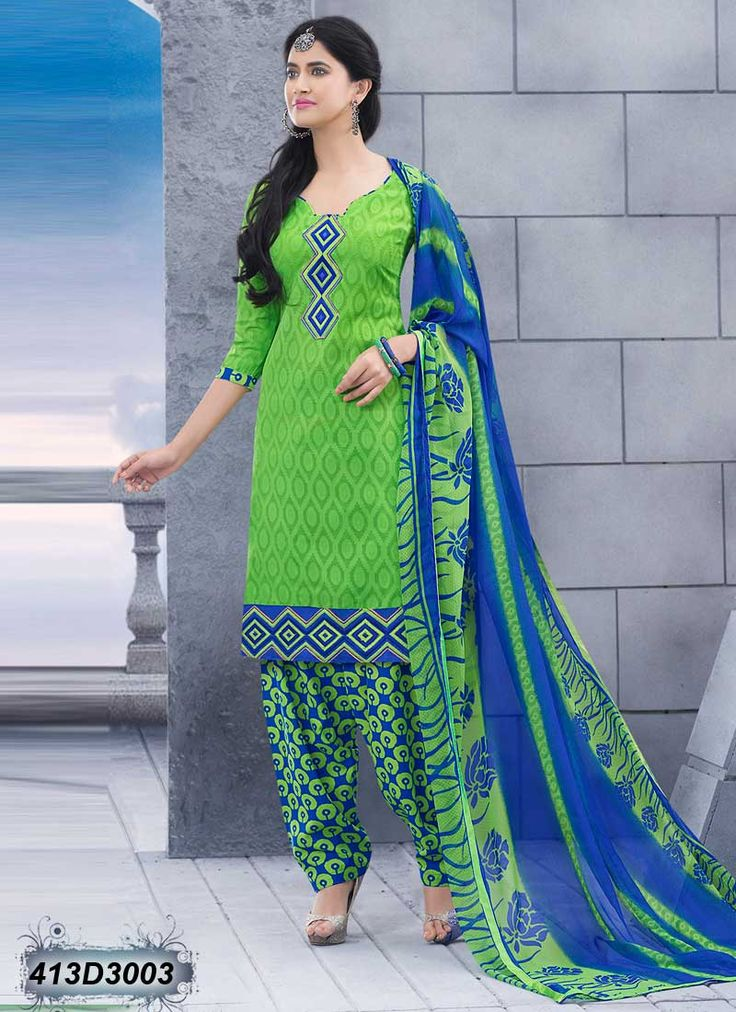 Green Designer Patiala Salwar Suit