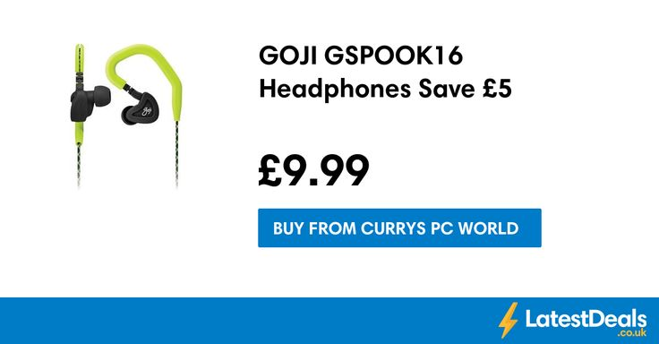 GOJI GSPOOK16 Headphones Save £5, £9.99 at Currys PC World