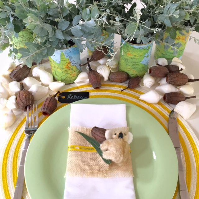 Australia Day table styling by Table Decorate Celebrate