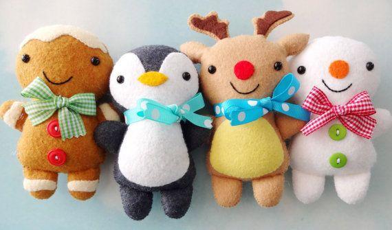 Softies de Navidad patrón de costura Tutorial por preciouspatterns