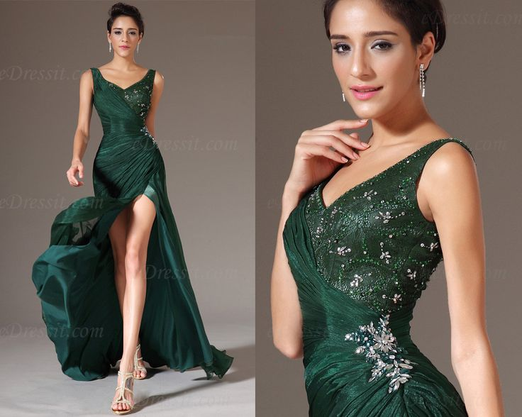 Cheap dresses for larger ladies, Buy Quality bead container directly from China beaded sequin dress Suppliers:Free Shipping Emerald Green Long Chiffon Lace Sequin Beaded Designer Formal elie saab Evening Dresses 2014 &n