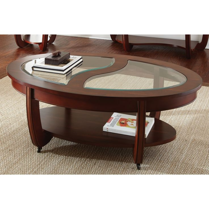 Lancaster Cherry Oval Coffee Table By Greyson Living Brown