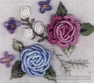 Рококо вышивка схемы для розы