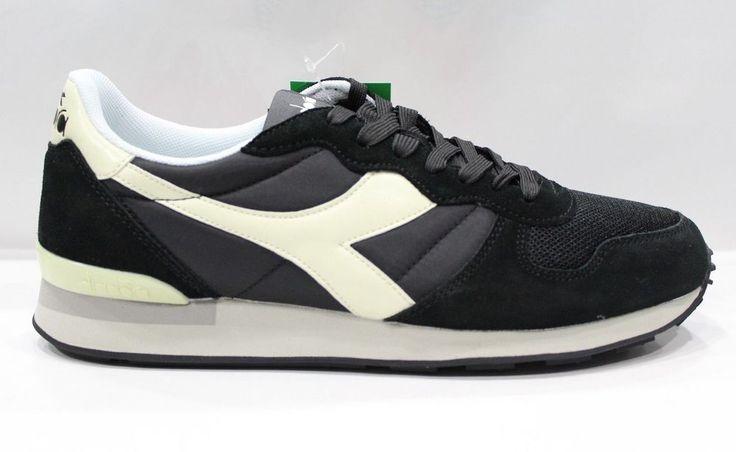 Scarpe Diadora Camaro C2609 Shoes Sneakers Basse Unisex Nero Bianco Sospiro