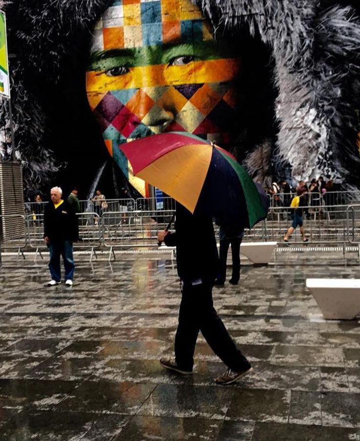 3,000 square meter mural for the rio olympics by Eduardo Kobra