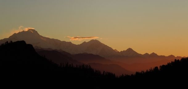 Sunrise in the Annapurna Range  #landscape #sunrise #annapurna #range #photography