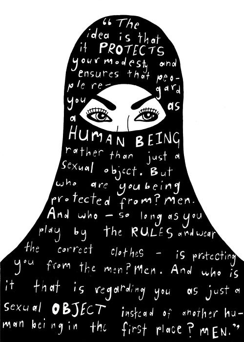 Yes, I am a Muslim. I support women wearing Burkas. I also completely support this statement. I think it goes both ways, though. For people who dont cover themselves up to show that they are free enough to do as they please, kind of fall victim to the same category of men. Do what you would rather do.
