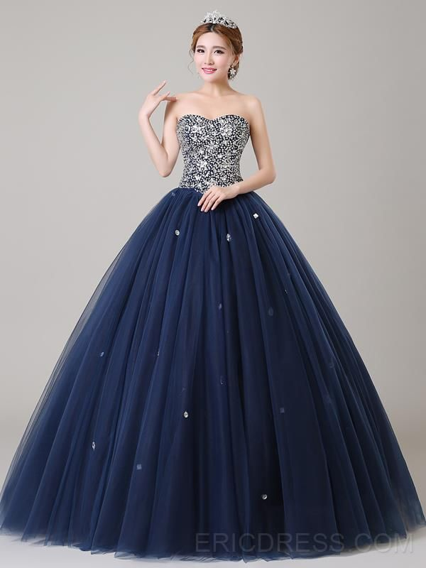 Ericdress Sweetheart Sequins Beaded Ball Gown Quinceanera Dress Quinceanera Dresses- ericdress.com 11428081