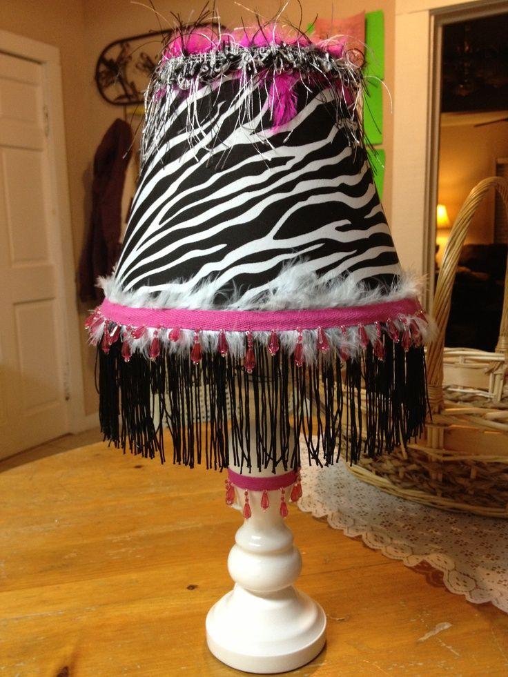 Monster High Room Ideas   ... lamp I Revamped for my daughters monster high, zebra, hello kitty room