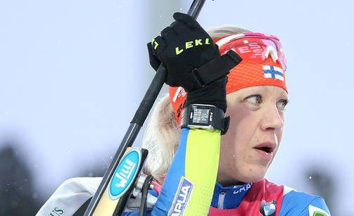 Kaisa Mäkäräinen oli Kontiolahden nopein myös sunnuntaina.