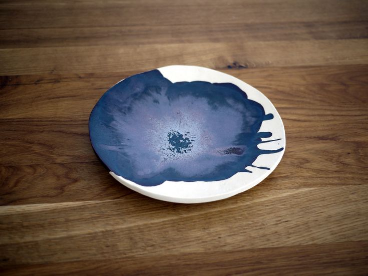 Ceramic plate 02, Monochrome series, Projectorium
