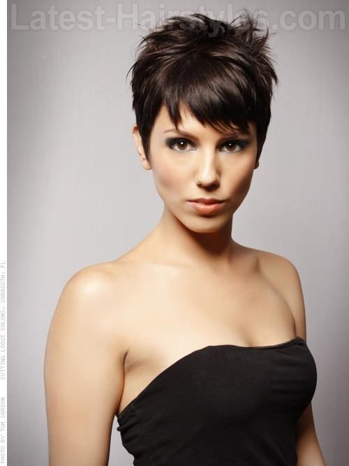 Long Pixie For Brunette Cuts | ... Haircuts, Hairstyles for 2013 and Hair colors for short long medium