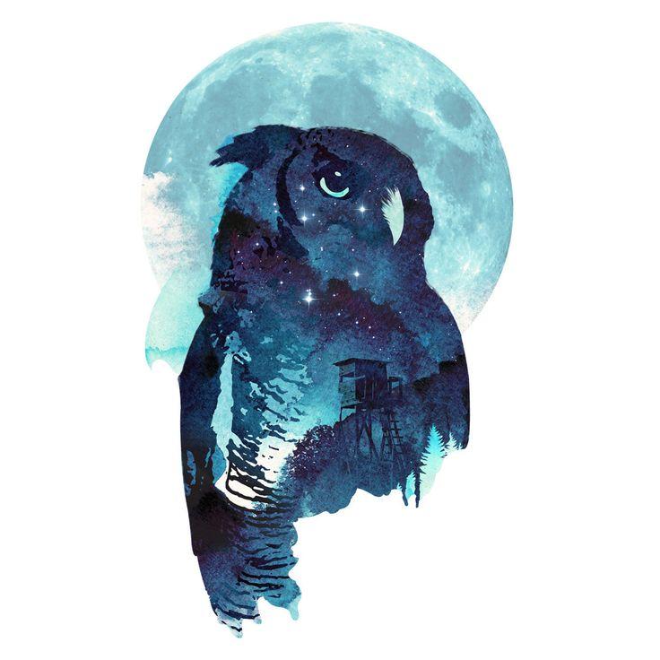 Midnight Owl Róbert Farkas Wall Decals  WallsNeedLove