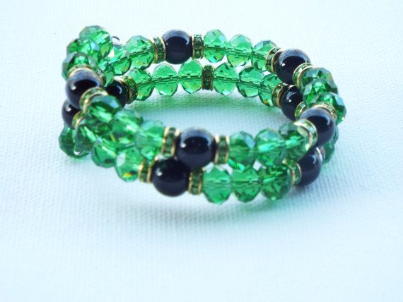 Emerald Green Crystal Bracelet, Anniversary Gift for Wife, Bridesmaid Thank You Gift, Christmas Ideas for Wife, Christmas Gift for Mom,