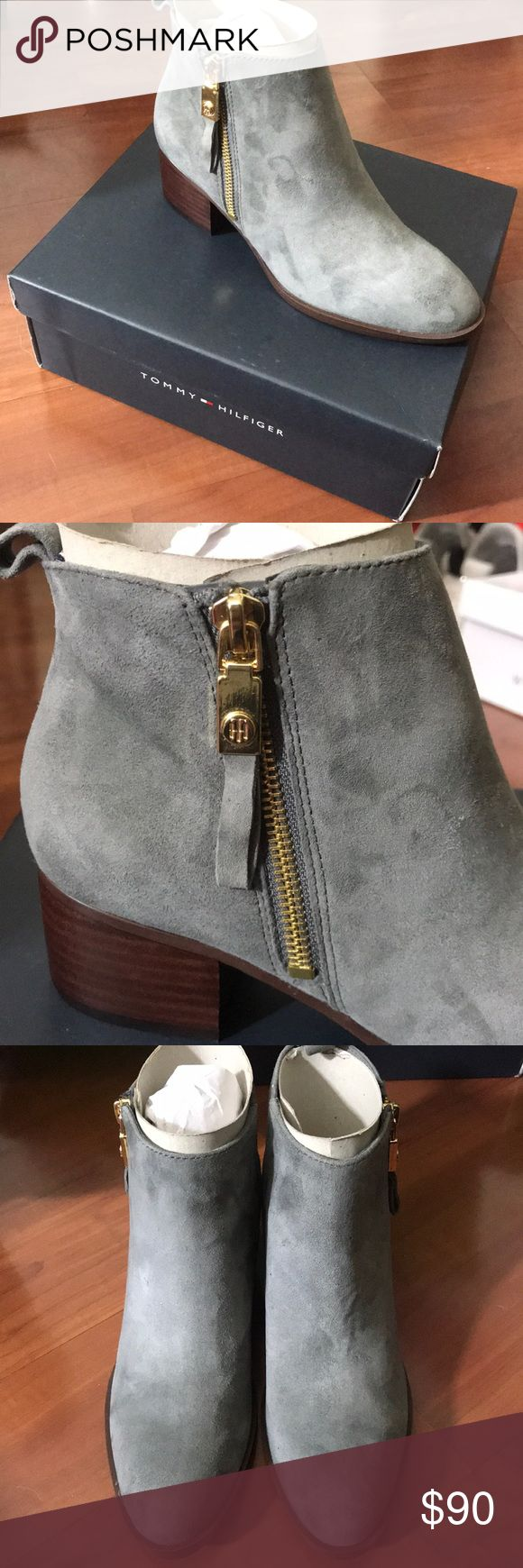 Tommy Hilfiger Booties Ankle Booties Grey  NEW! Tommy Hilfiger Shoes Ankle Boots & Booties