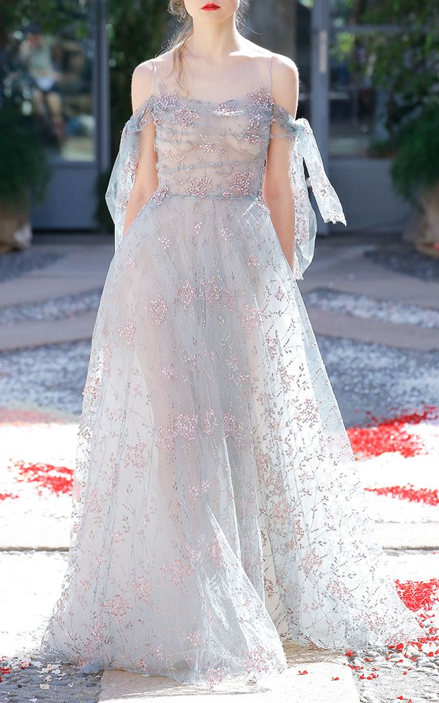 83892d4f90 Tulle Embroidered Floral Ball Gown   Evening Dress   Formal dresses ...