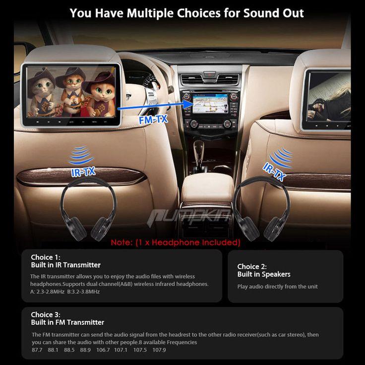 10 1 in car headrest lcd tft monitor screen for kids car movie games headphone ebay cars_swift voyager_chrysler fiat etc pinterest kids cars