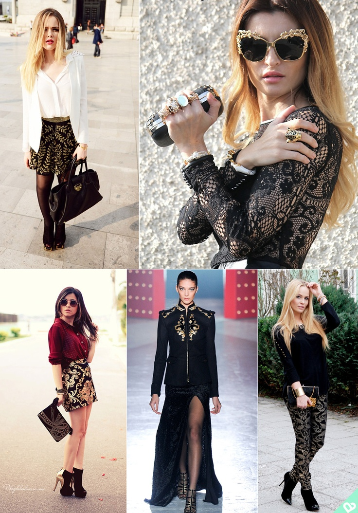42 Best Images About Fashion Trend Baroque On Pinterest