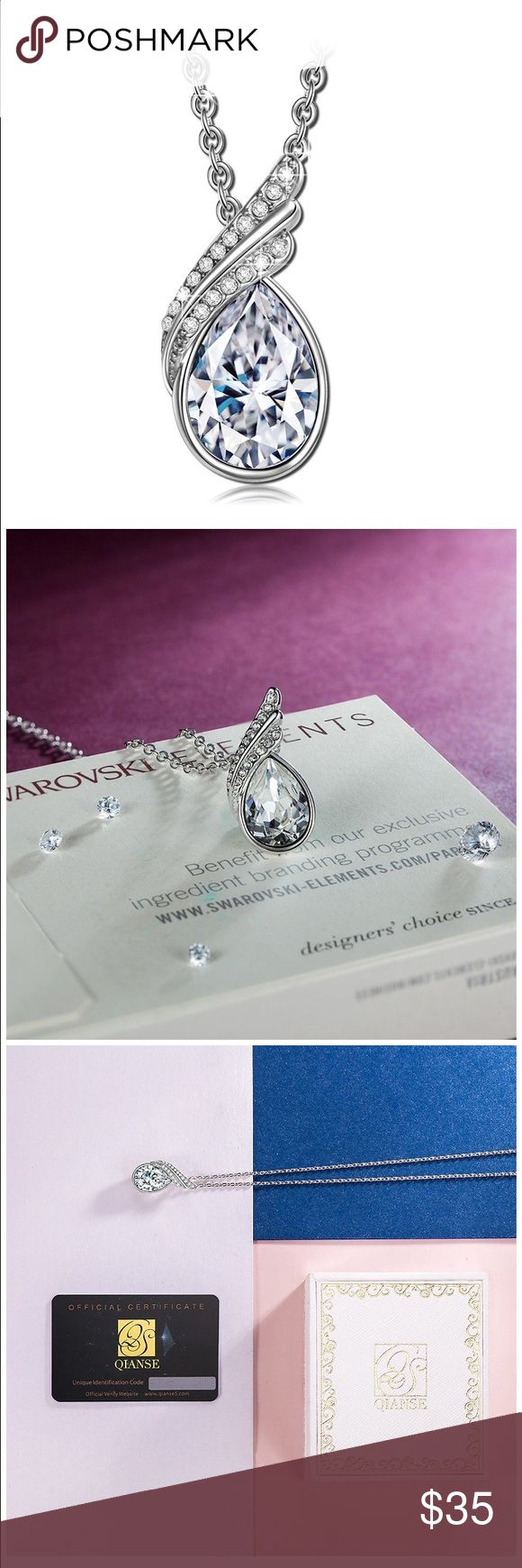 Qianse Swarovski crystal necklace w/ authenticity Beautiful necklace. Never worn. No longer have box, but do have the authenticity card and necklace Jewelry Necklaces
