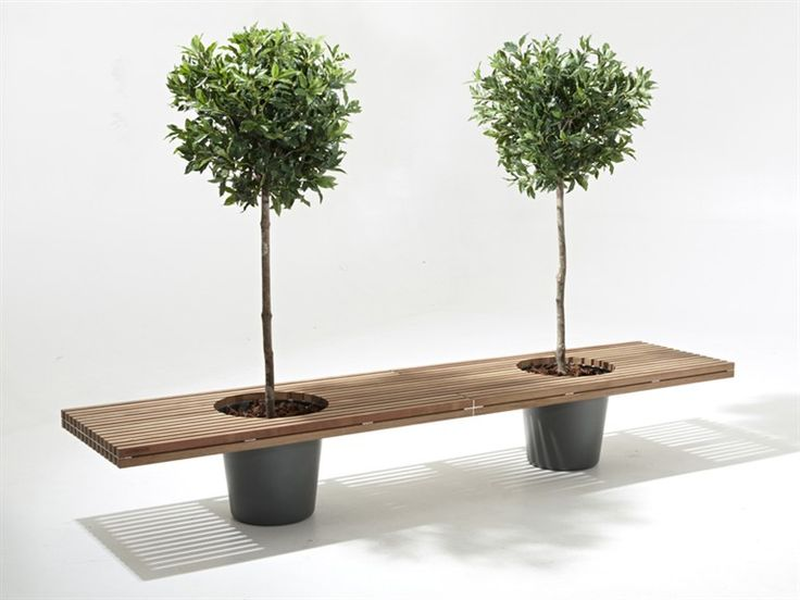 Garden Wood bench ROMEO & JULIET by Extremis   Design Stijn Goethals, Koen Baeyens, Basile Graux http://bit.ly/Hmso3l