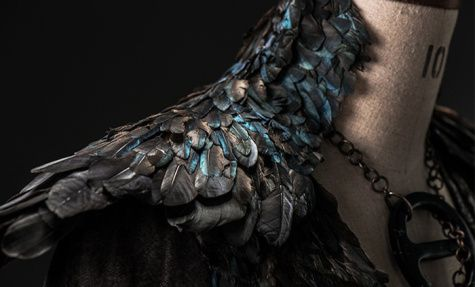 """Dark Sansa collar detail - goth Sansa / Alayne Stone costume in """"The Mountain and the Viper,"""" episode 8 of Game of Thrones S4"""