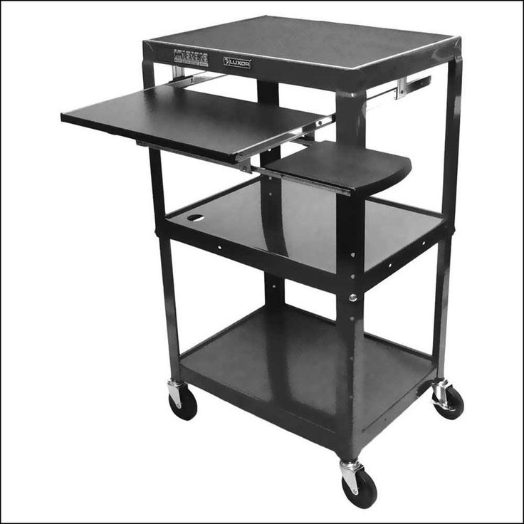 Portable Computer Table On Wheels