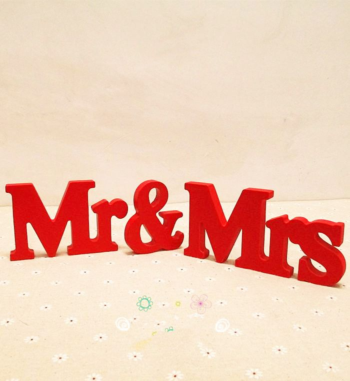 Cheap table button, Buy Quality table decoration for xmas directly from China decor wedding table Suppliers:  Free Shipping Red Mr.& Mrs.Letters wedding table decoration , free standing Mr and Mrs signs for sweetheart table