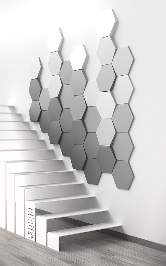 Hexagon wall panel. www.kalithea.pl