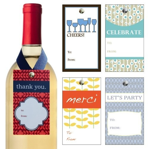 """Amazon.com: The """"Cheers"""" Collecton of Gift Tags for Wine Bottles: Home & Kitchen"""