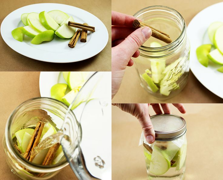 This apple cinnamon detox water is easy to make, and super yummy + three other detox water recipes.