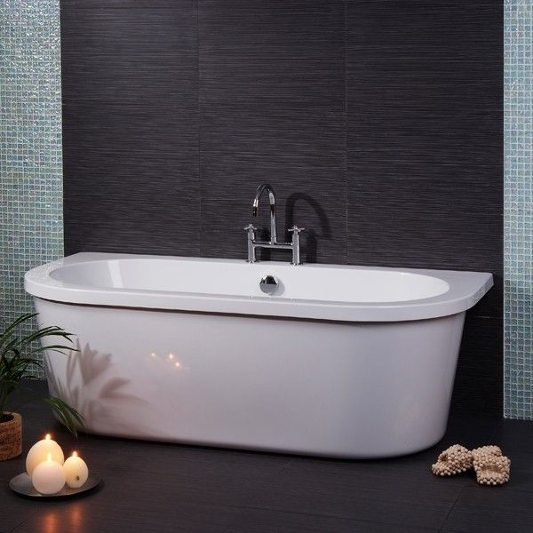 The Phoenix Free Standing Bath with Surround, priced at £415.95. This Phoenix free standing bath with surround can be fitted against a wall if preferred as it has a straight back edge. It also features adjustable feet. Order now at - http://www.taps.co.uk/phoenix-free-standing-bath-with-surround.html