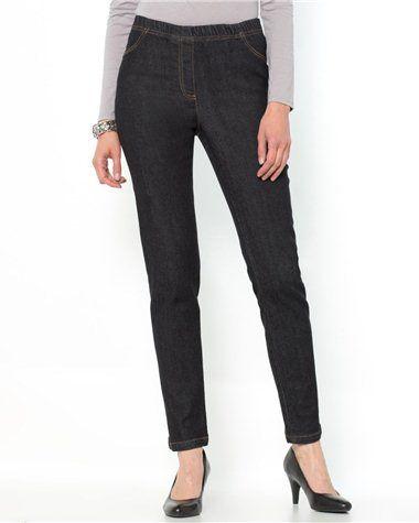 Jean denim stretch, forme fuselée, taille élastiquée http://www.castaluna.fr/categories/jeans/139.aspx#FriendlySize*52|Page*2|
