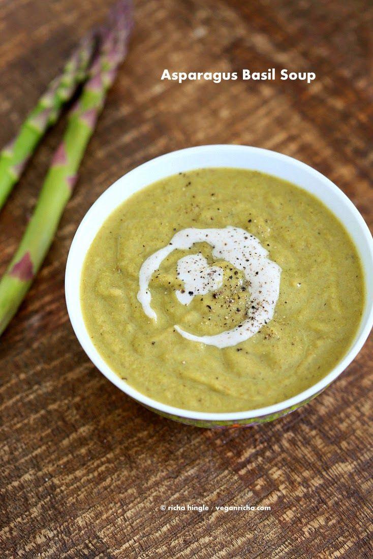 Roasted Asparagus Basil Soup. Vegan & Glutenfree Recipe |: Vegan Recipe, Vegans, Vegan Gluten Free, Vegan Richa, Roasted Asparagus, Glutenfree Recipe, Basil Soup, Asparagus Basil, Vegan Soups
