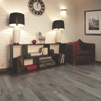 "Mohawk Randhurst Map SWF 3-1/4"" Solid Oak Maple Hardwood Flooring in Flint"