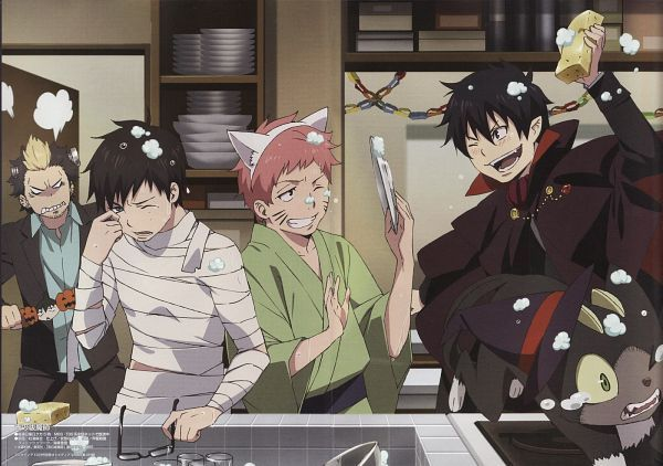 Blue Exorcist ~~ Doing the dishes on Halloween