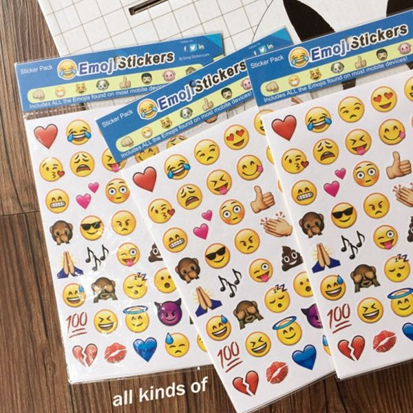 4pcs Hd Apple Emoji Expression Stickers Diary Hand Account Smiling Face Decoration Emoji Stickers Iphone Hand Sticker Emoji Stickers