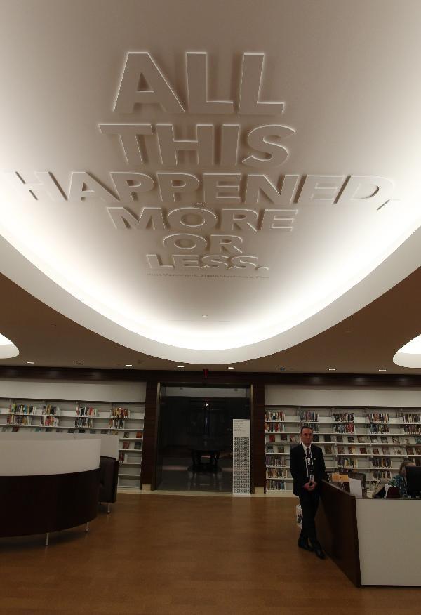 Newly renovated St. Louis Library Kurt Vonnegut Slaughterhouse Five Quote