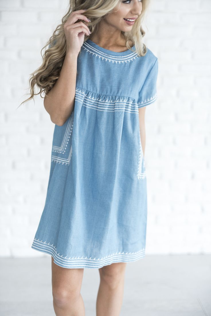 Our Nantucket Top was a customer favorite, we added a little spin & introduce you to our NEW Chambray Nantucket Tunic! See Jessa's sizing HERE, she is wearing size Small