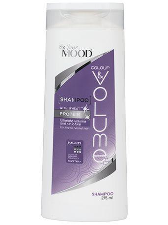 » SCHAMPO COLOUR & VOLUME Mood's hårvårdsserie är specialutvecklad för färgat hår. Schampo för tunt/fint och färgat hår, med veteprotein för optimal volym. Innehåller även solrosextrakt som reparerar och skyddar mot skadliga UV-strålar. För optimal färgvård. Finns att köpa i dagligvaruhandeln.