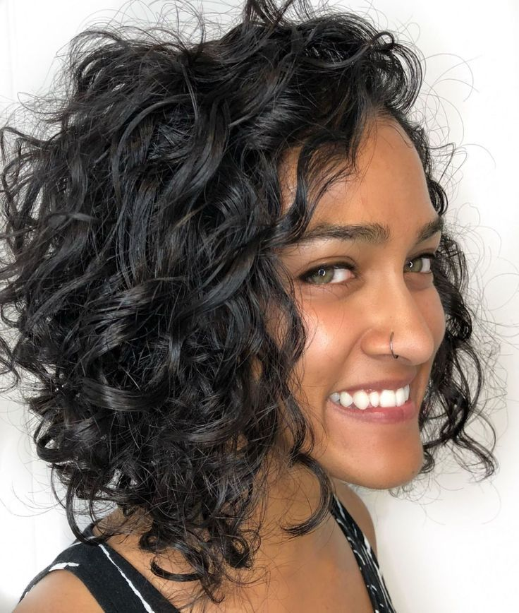 49+ Black curly bob hairstyles 2018 ideas
