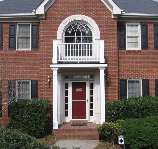 Simple Columned Portico With Faux Balcony Designed And
