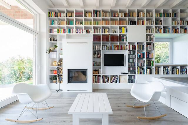 Embedded bookcase