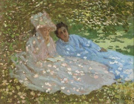 Claude Monet, Two women in a Garden (also known as Madame Monet dans au jardin) on ArtStack #claude-monet #art