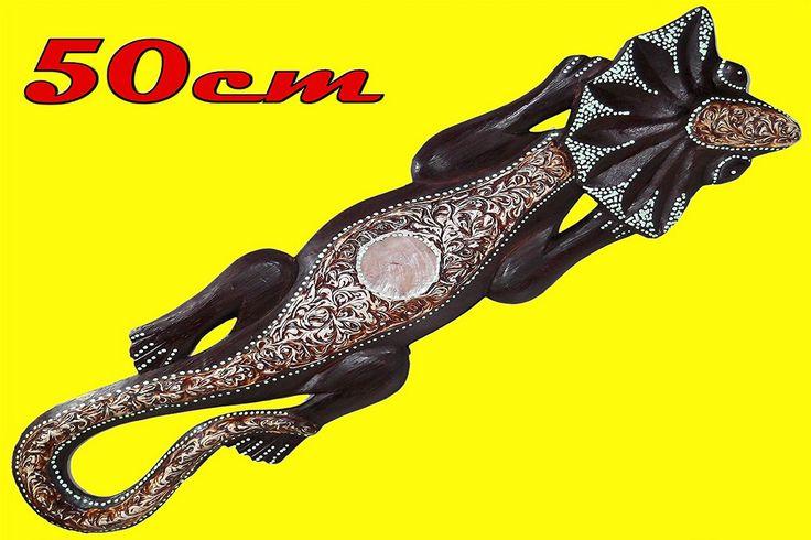€ 6,99 - Geco jeco etnico indonesia salotto bar pub in legno animali etnici da parete