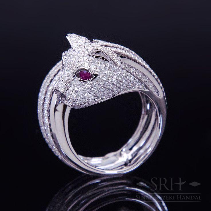 21531 18 Karat White Gold Weight 11.57 gr Ring Size 12.00 0.094 Total Carat /2 RB R 1.910 Total Carat : 359 Rounds Diamond